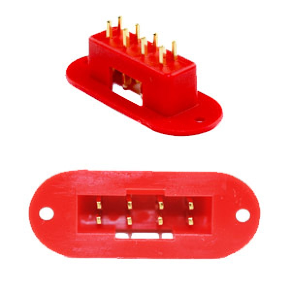 8-pin Multiplex Style Male Panel Mount (2)