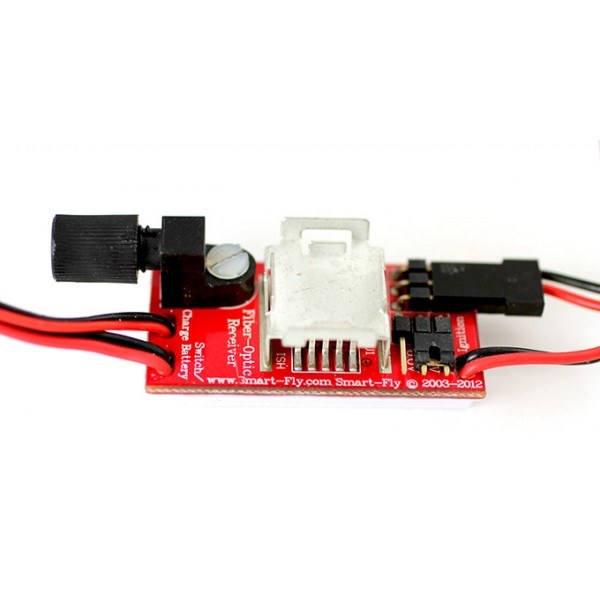 Ignition Cutoff Regulated Fiber-optic Receiver w/LED